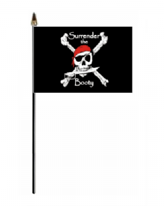 Pirate Surrender The Booty Hand Flag - Small